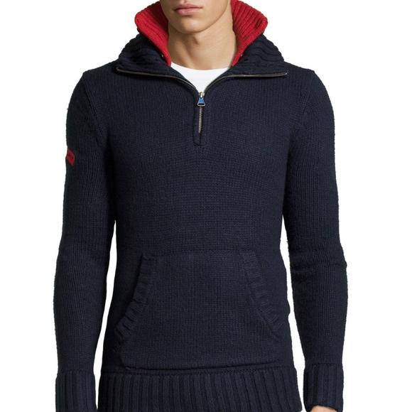 buy popular 04215 68e75 Superdry Mens Semaphore Henley Pullover Sweater NWT